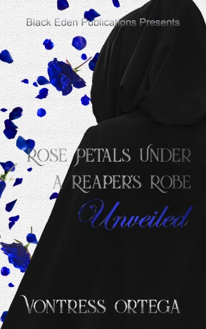 rose petals under a reaper's robe unveiled